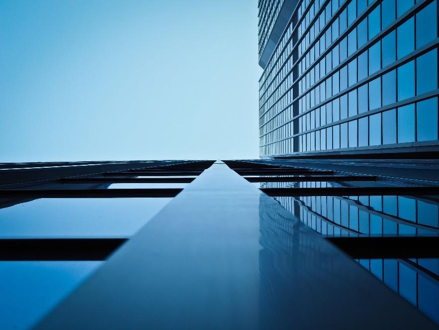 Fachada oficina azul