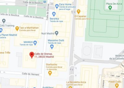 Vista en Google Maps de oficina en calle Orense, 11