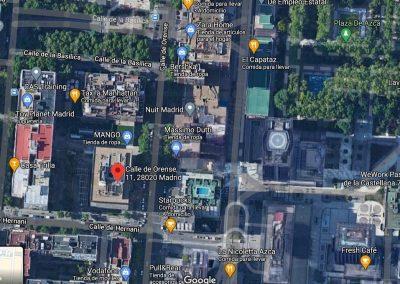 Vista satélite de oficina situada en calle Orense, 11